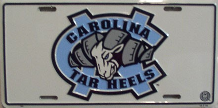 LP-897 North Carolina Tarheels License Plate - 440