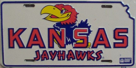 LP-907 Kansas Jayhawks License Plate - 461