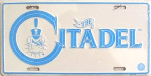 LP-921 The Citadel License Plate - 699