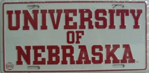 LP-922 University of Nebraska License Plate - 779