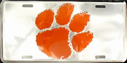 lp-1010 Clemson Chrome License Plates License Plate- 50065