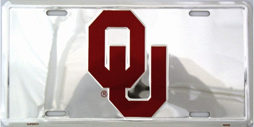 lp-973 Oklahoma Sooners Chrome License Plate - 50074