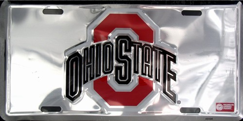 lp-981 Ohio State Chrome License Plate - 50086